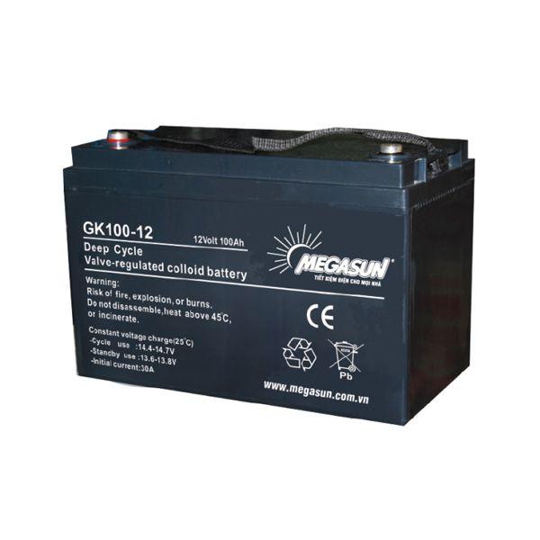 Ắc quy xả sâu MEGASUN - chuyên dùng cho điện năng lượng mặt trời