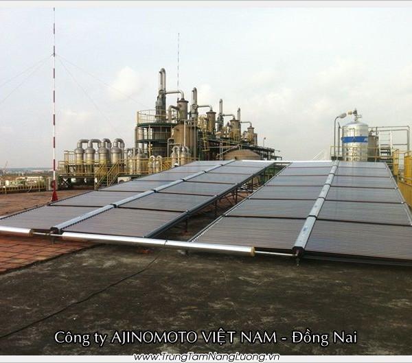 Dự án máy nước nóng năng lượng mặt trời tại Ajinomoto Việt Nam – Đồng Nai