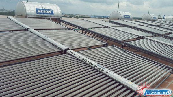 Hệ thống máy nước nóng năng lượng mặt trời tại BV Mỹ Phước