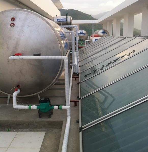 Hệ thống máy nước nóng năng lượng mặt trời Bệnh Viện Tâm Trí – Nha Trang