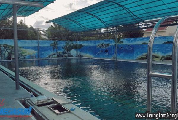 Công trình máy nước nóng năng lượng mặt trời hồ bơi DONA