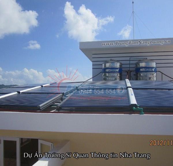 Hệ thống máy nước nóng năng lượng mặt trời tại Trường sĩ quan thông tin Nha Trang: