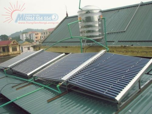 Dùng chung bình nước nóng năng lượng mặt trời