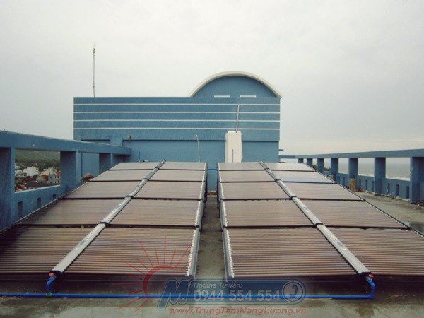 Dự án hệ thống máy nước óng năng lượng mặt trời tại Trung tâm điều dưỡng Bộ Quốc Phòng – Vũng Tàu