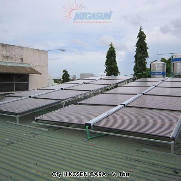 Hệ thống máy nước nóng năng lượng mặt trời tập trung MEGASUN tại Công ty HIKOSEN CARA – Vũng Tàu
