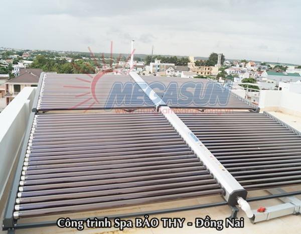 hệ thống máy nước nóng  năng lượng mặt trời tại Spa Bảo Thy – Đồng Nai