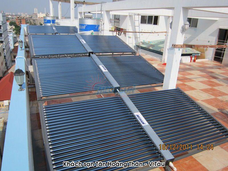 Hệ thống máy nước nóng năng lượng mặt trời công nghiệp MEGASUN tại Khách sạn Tân Hoàng Thân - Vũng Tàu