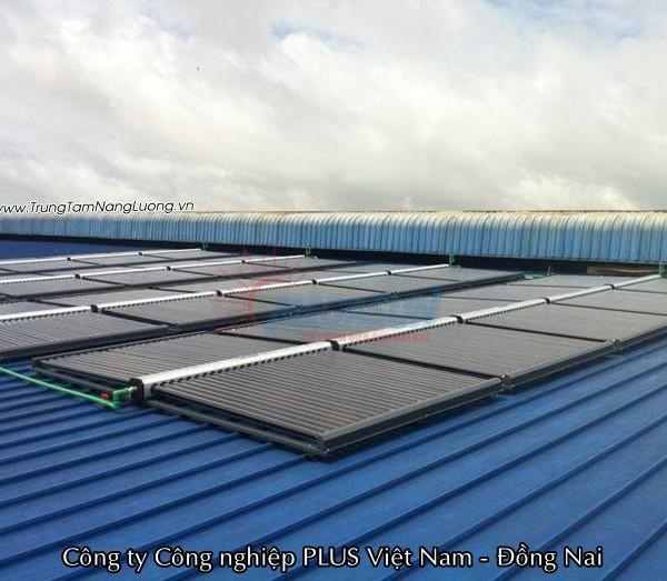 hệ thống máy nước nóng năng lượng mặt trời MEGASUN tại Công ty TNHH Công nghiệp PLUS Việt Nam – Đồng Nai