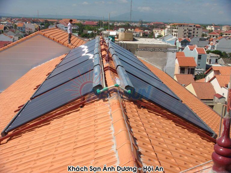 Hệ thống máy nước nóng năng lượng mặt trời MEGASUN tại khách sạn Ánh Dương - Hội An