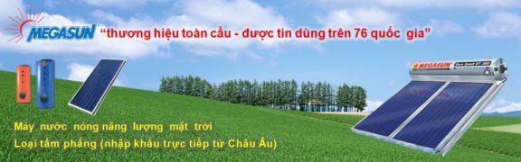 Máy nước nóng năng lượng mặt trời Megasun - dòng tấm phẳng