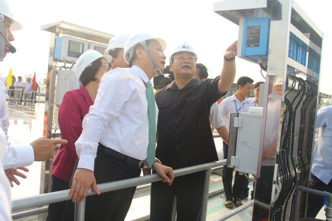 Lãnh đạo TP Hà Nội thăm công trình nhà máy xử lý nước thải làng nghề Cầu Ngà