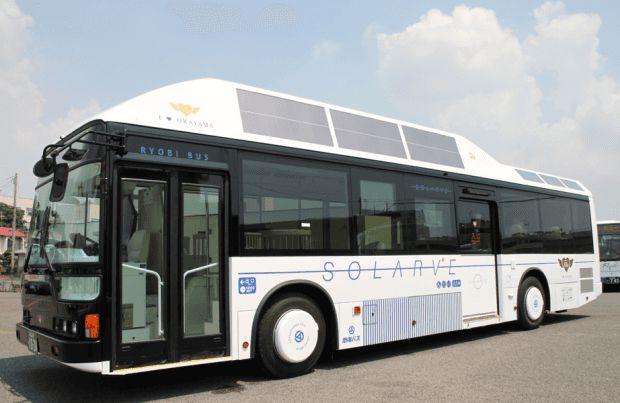 Thử nghiệm xe buýt chạy bằng năng lượng mặt trời - Ảnh minh họa