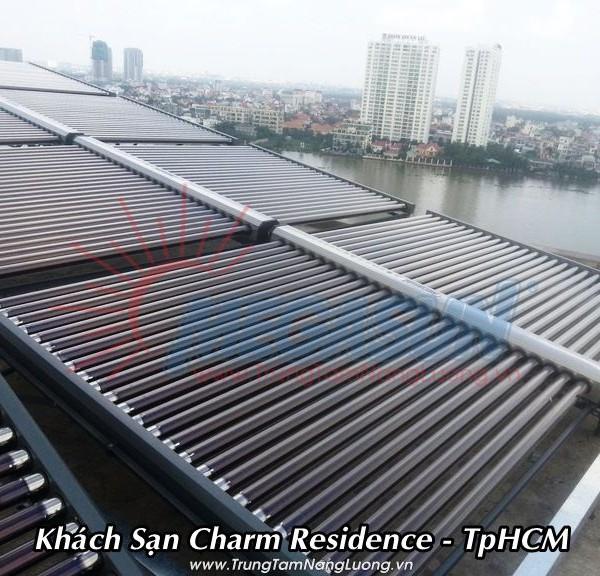 Hệ thống máy nước nóng năng lượng mặt trời KS Charm Residence – Bình Thạnh, TPHCM