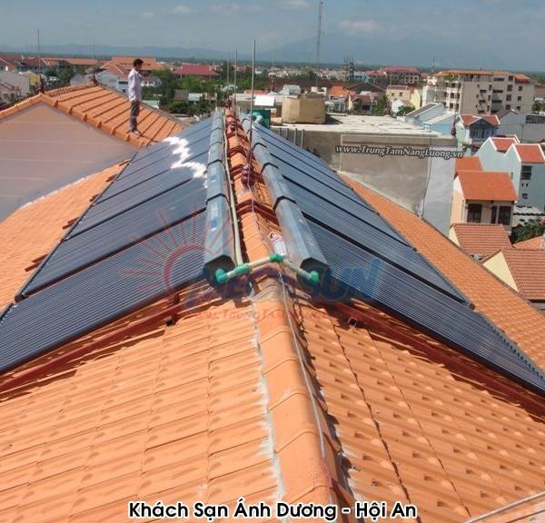 Hệ thống máy nước nóng năng lượng mặt trời MEGASUN tại khách sạn Ánh Dương – Hội An