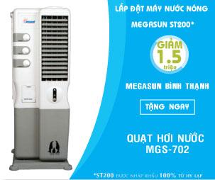 Máy nước nóng năng lượng mặt trời ống chân không Megasun KAA-N