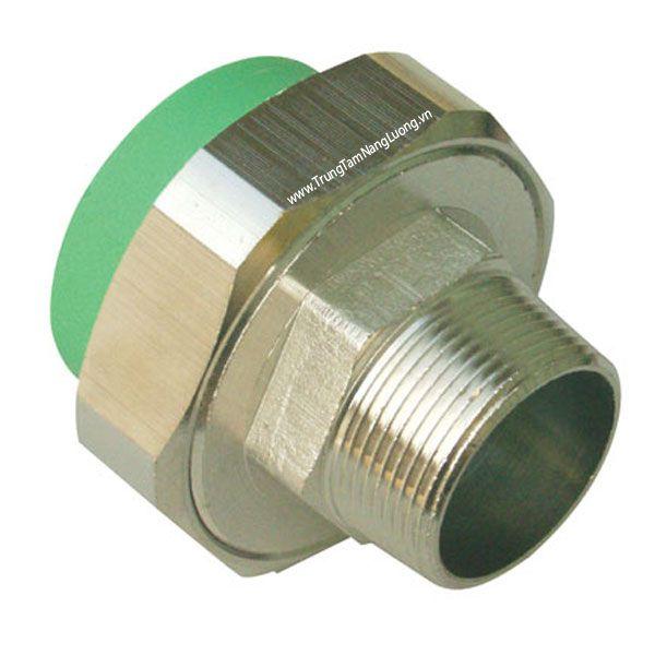 Rắc co đồng ren ngoài ống nhựa hàn nhiệt PPR MEGASUN